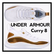 ☆Under Armour☆Curry 8 白xGold バスケットボールシューズ