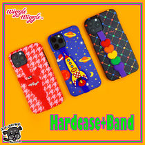 【wiggle wiggle】iPhone Galaxy Hard case + Band 3種類