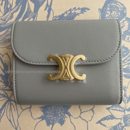 CELINE 折りたたみ財布 送料込【CELINE】SMALL FLAP WALLET IN SHINY SMOOTH LAMBSKIN(2)