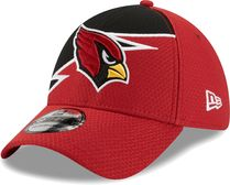 New Era Men's Arizona Cardinals Red 39Thirty Bolt Fitted Hat