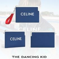 21SS【Celine】 SMALL NYLON AND CALFSKIN POUCH ポーチ