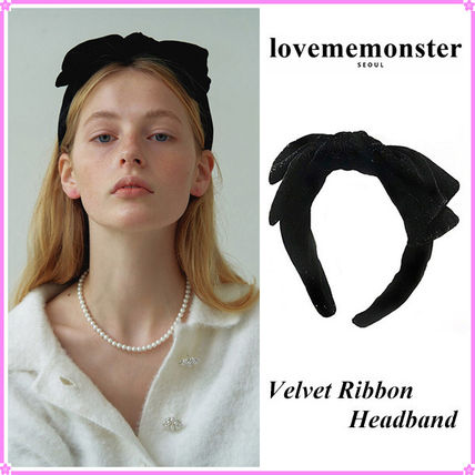【LOVE ME MONSTER】Velvet Ribbon Headband~リボンカチューシャ