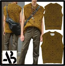 ☆ANDERSSON BELL☆JACQUARD HEAVY CREWNECK KNIT VES.T★