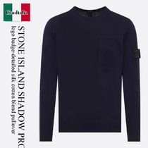 Stone Island Shadow Project  SILK COTTON BLEND PULLOVER