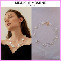 【MIDNIGHT MOMENT.】clear pearl necklace〜ネックレス