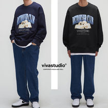 ◆VIVASTUDIO◆ THREE PUPPIES CREWNECK ☆韓国大人気 男女兼用