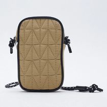 ZARA【NEW】QUILTED NYLON MOBILE PHONE BAG