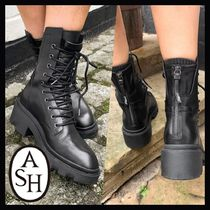 ★送料込み★【ASH】Madness mid heel lace up boots in black