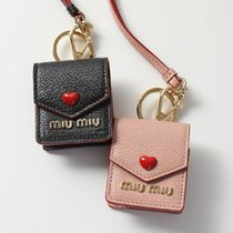 MIUMIU エアーポッズケース 5TT106 2BC3 MADRAS LOVE Air Pods