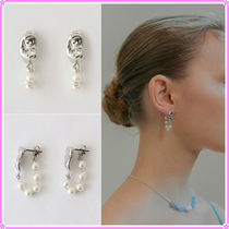 【MIDNIGHT MOMENT.】hold pearl earring〜ピアス