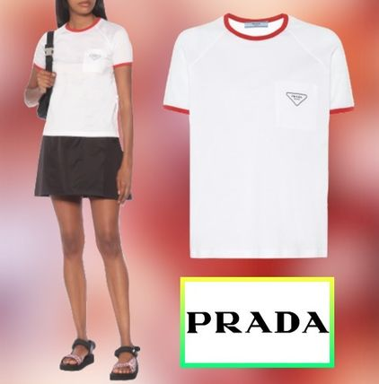 ★PRADA★ Raglan cotton-jersey T-shirt