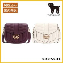 【COACH】Georgie Saddle Bag With Quilting◆国内発送◆