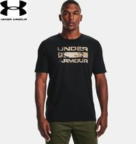 【UNDER ARMOUR】クールロゴTシャツUA Stacked Logo Fill★黒