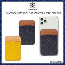 【Tory Burch】T MONOGRAM LEATHER PHONE CARD POCKET♪
