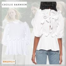 CECILIE BAHNSEN*Marie cotton blouse ブラウス ホワイト