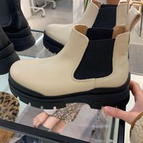 """& Other Stories(アンドアザーストーリーズ) ショートブーツ・ブーティ """"& Other Stories"""" Chunky Leather Chelsea Boots Beige"""
