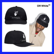 VIP価格【Off-White】Black cotton Hands Off logo cap 関税込