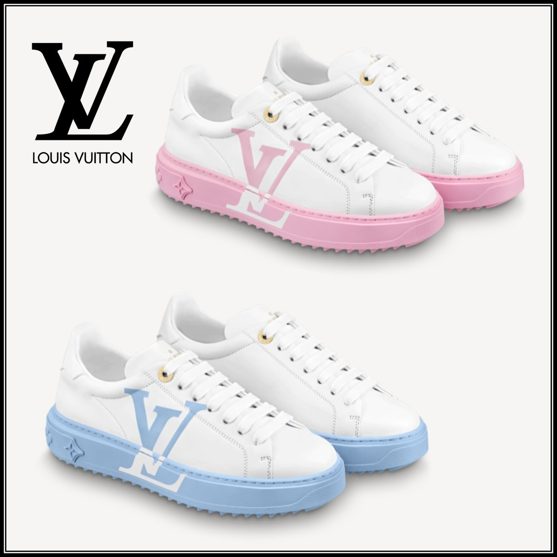 【LouisVuitton】品薄!TIME OUT TRAINERS  ライトブルー/ピンク (Louis Vuitton/スニーカー) 1A8MZR1A8MZB