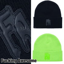 関送込☆Fucking Awesome☆ Applique Cuff Beanie ニット帽♪