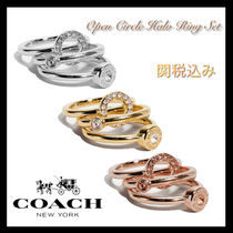COACH OUTLET★Open Circle Halo リング 3点セット♪関税込