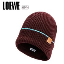 LOEWE ロエベ  Knitted beanie hat in wool
