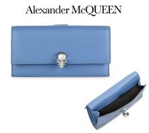 Alexander McQueen☆Pebbled Leather Continental Wallet