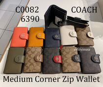 定番 COACH★Medium Corner Zip Wallet 折り財布 C0082 6390