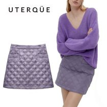 【Uterque】QUILTED NYLON MINI SKIRT