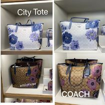 COACH City Tote 花柄 A4ファイル収納可