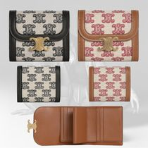 21SS【Celine】SMALL TRIOMPHE WALLET IN TEXTILE 財布