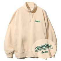 韓国で大人気☆Half Zip-Up M-Logo Sweat/全4色/JEEP