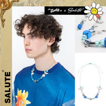 SALUTE(サルーテ) ネックレス・チョーカー [SALUTE] EVAE* X BLACKLUX NECKLACE★クロームスカル