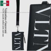 VALENTINO(ヴァレンティノ) カードケース・名刺入れ Valentino Garavani VLTN smooth leather neck card case