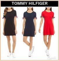 【TOMMY HILFIGER】Cotton Tie-Sleeve Dress◆ワンピース