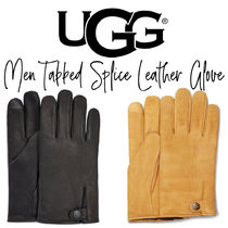 【UGG】MEN TABBED SPLICE LEATHER GLOVE メンズ レザー手袋