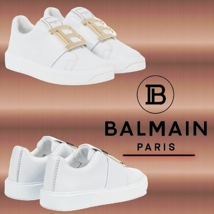 ★BALMAIN★ B Court leather sneakers