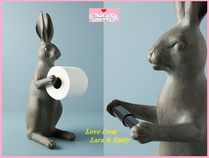 関税送料込【Anthro】Bunny Toilet Paper Holder