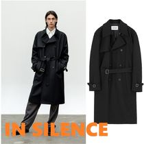 ◆IN SILENCE◆2021SS SLOSH WOOL TRENCH COAT BLACK