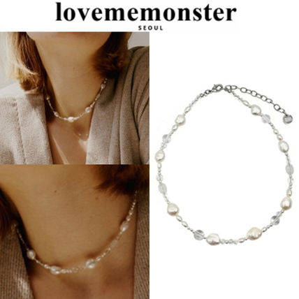 ★人氣★LOVE ME MONSTER★Pearl & Crystal Blend Choker