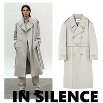 ◆IN SILENCE◆2021SS OVERSIZE TRENCH COAT LIGHT GREY