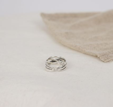 SCENERITY 指輪・リング SCENERITY Twisted Silver Ring(5)