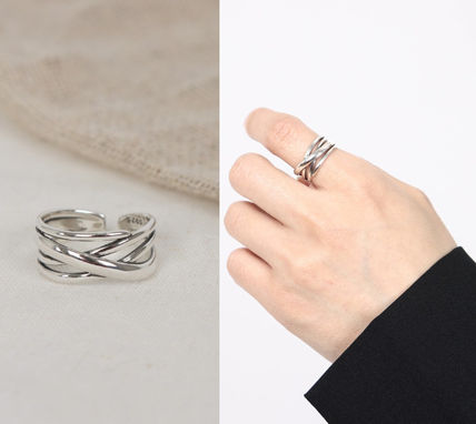 SCENERITY 指輪・リング SCENERITY Twisted Silver Ring