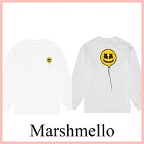 Marshmello スマイル FLY WITH ME 長袖Tシャツ White 送料込み