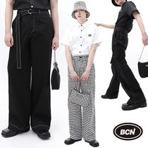 ★BASIC COTTON★送料込み★韓国★人気 Basic logo stitch pants