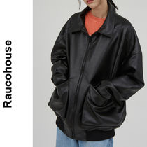 Raucohouse(ラウコハウス)★ Two Pocket Casual Leather Jumper