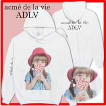 人気☆【acme'delavie】☆ADLV BABY FACE HOODIE WHITE RED HA.T
