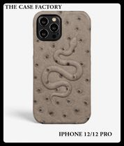 THE CASE FACTORY★IPHONE 12/12 PROレザーケーススネークグレー
