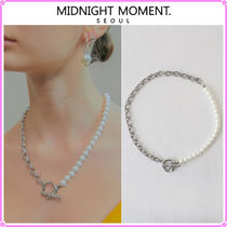 MIDNIGHT MOMENT.(ミッドナイトモーメント) ネックレス・ペンダント 【MIDNIGHT MOMENT.】two rope pearl necklace〜ネックレス