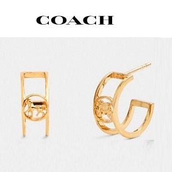 COACH ◆ horse and carriage huggie earrings