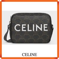 CELINE MINI MESSENGER IN TRIOMPHE CANVAS WITH CELINE PRINT